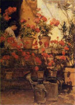 Childe Hassam Geraniums France oil painting art