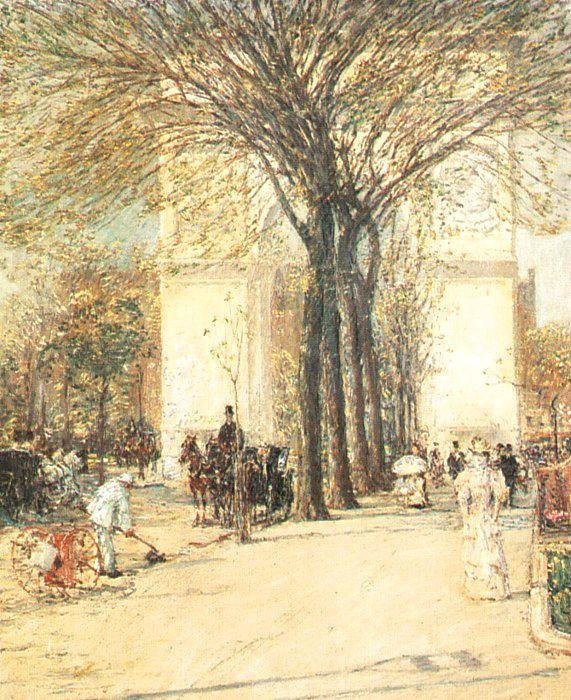 Childe Hassam Washington Arch in Spring France oil painting art
