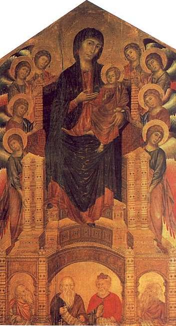 Cimabue The Santa Trinita Madonna oil painting image