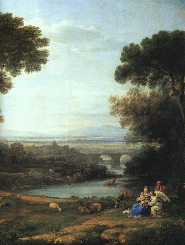 Claude Lorrain The Rest on the Flight into Egypt oil painting image