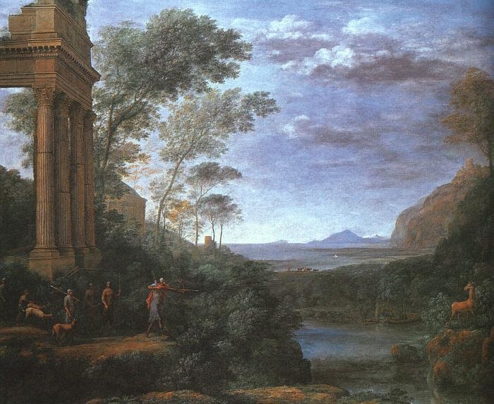 Claude Lorrain Landscape with Ascanius Shooting the Stag of Silvia oil painting image