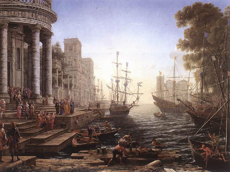 Claude Lorrain Port Scene with the Embarkation of St Ursula fgh oil painting image