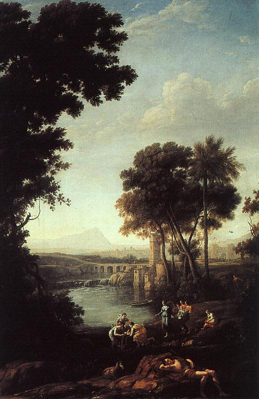 Claude Lorrain Landscape with the Finding of Moses oil painting image