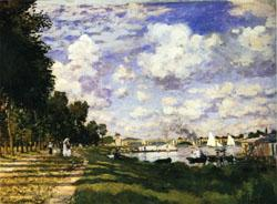 Claude Monet The dock at Argenteuil oil painting image