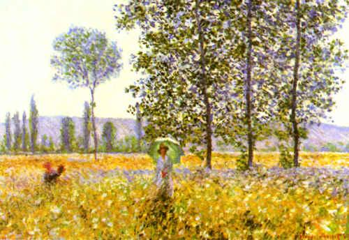 Claude Monet Fields in Spring oil painting image