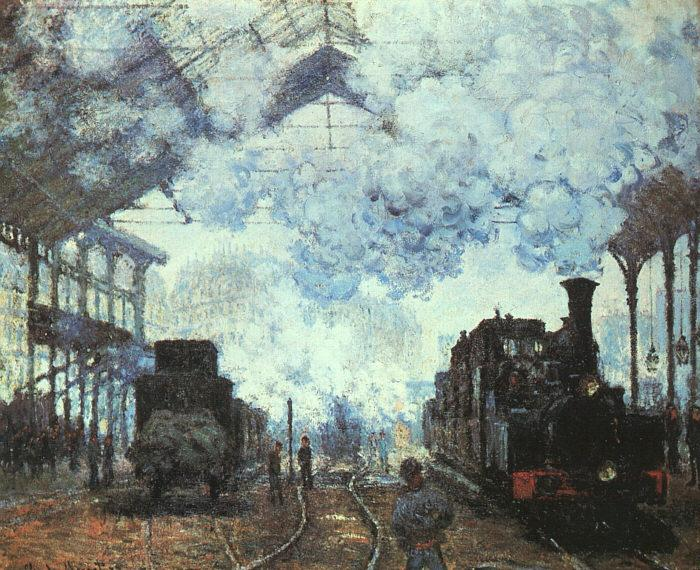 Claude Monet Arrival at St Lazare Station oil painting image
