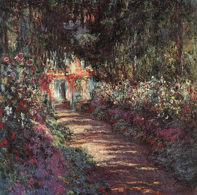 Claude Monet The Garden in Flower oil painting image