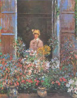 Claude Monet Camille at the Window oil painting image