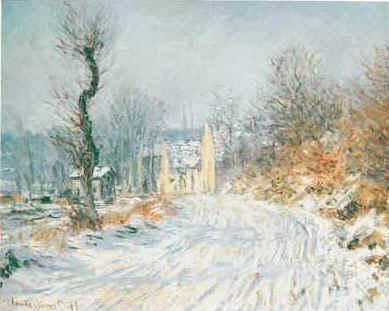 Claude Monet Road to Giverny in Winter oil painting image