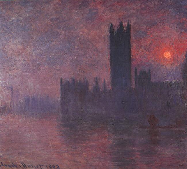 Claude Monet Houses of Parliament at Sunset oil painting image