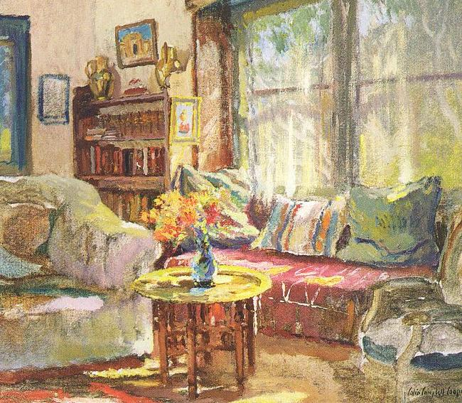 Colin Campbell Cooper Cottage Interior France oil painting art
