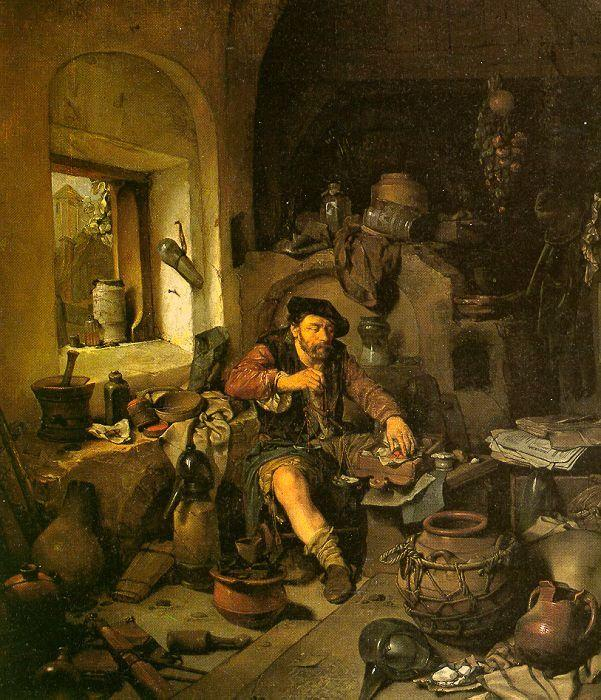 Cornelis Bega The Alchemist oil painting image