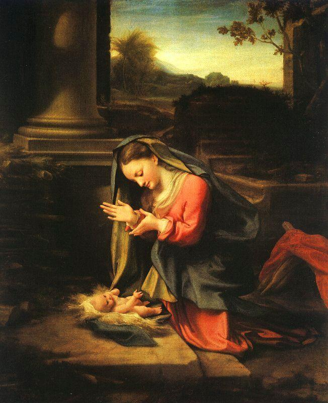 Correggio Madonna Worshipping the Child oil painting image