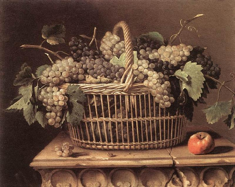 DUPUYS, Pierre Basket of Grapes dfg oil painting image