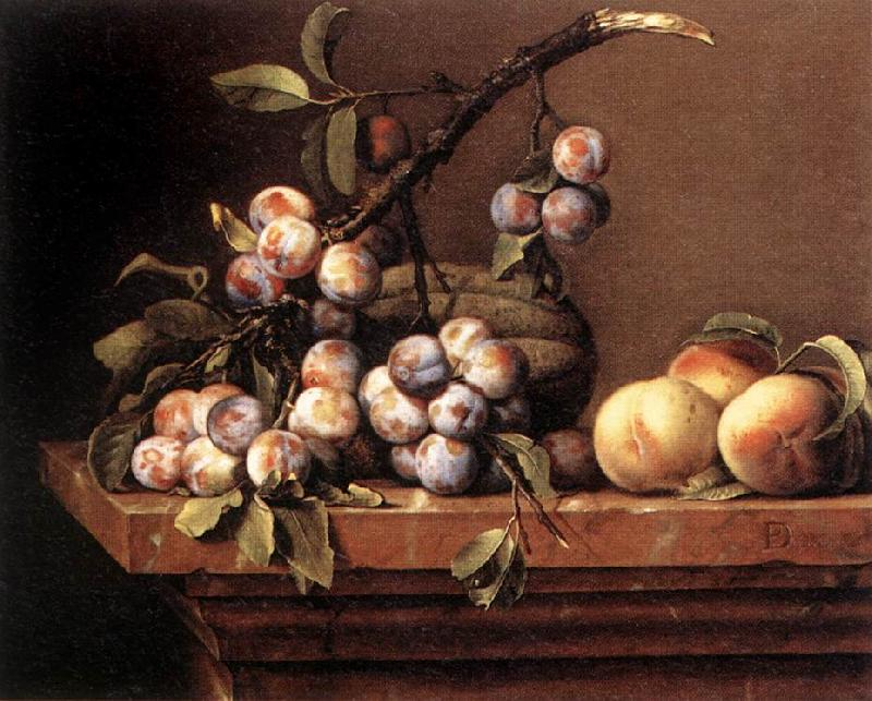 DUPUYS, Pierre Plums and Peaches on a Table dfg oil painting image