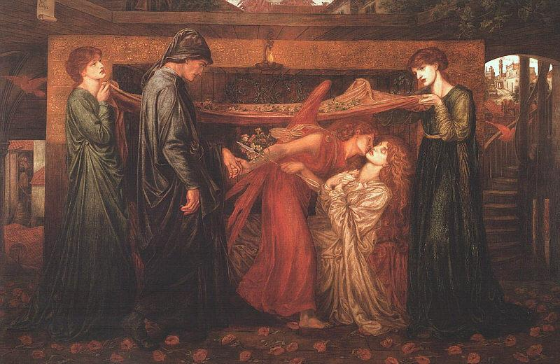 Dante Gabriel Rossetti Dante's Dream at the Time of the Death of Beatrice France oil painting art