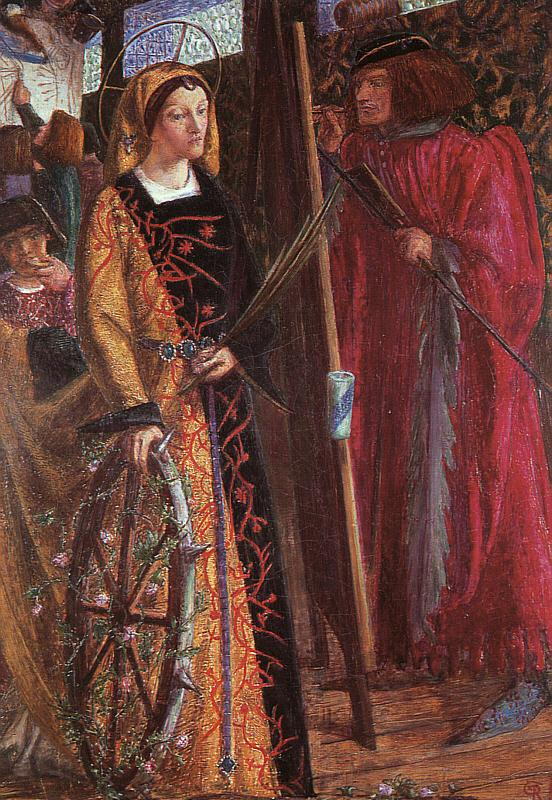 Dante Gabriel Rossetti Saint Catherine France oil painting art