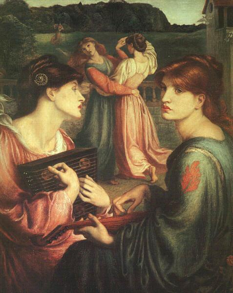 Dante Gabriel Rossetti The Bower Meadow oil painting image