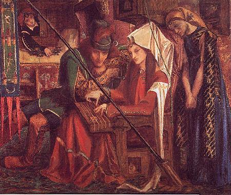 Dante Gabriel Rossetti The Tune of Seven Towers France oil painting art