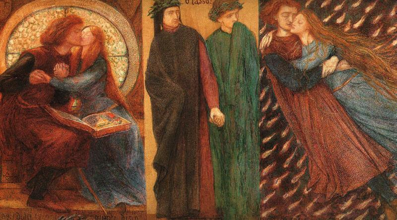 Dante Gabriel Rossetti Paolo and Francesca da Rimini France oil painting art