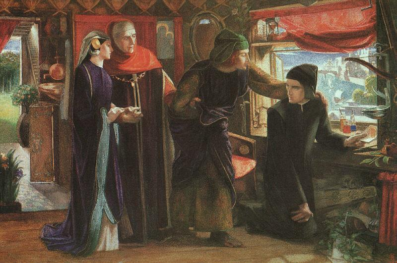Dante Gabriel Rossetti The First Anniversary of the Death of Beatrice oil painting image