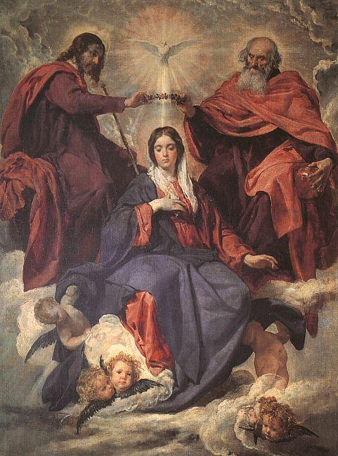 Diego Velazquez The Coronation of the Virgin oil painting image