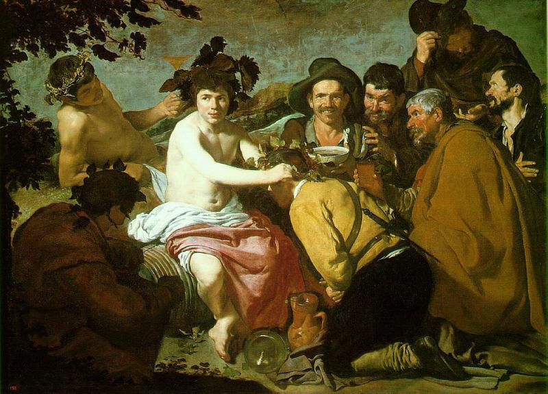 Diego Velazquez The Feast of Bacchus oil painting image
