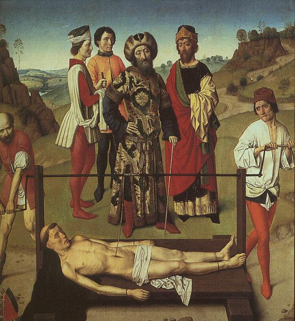 Dieric Bouts The Martyrdom of St.Erasmus oil painting image