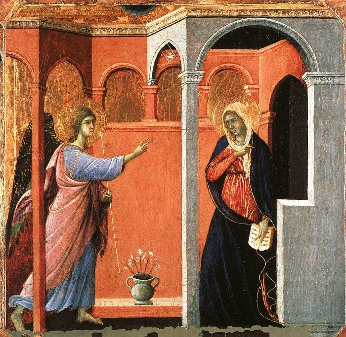 Duccio di Buoninsegna Annunciation oil painting image