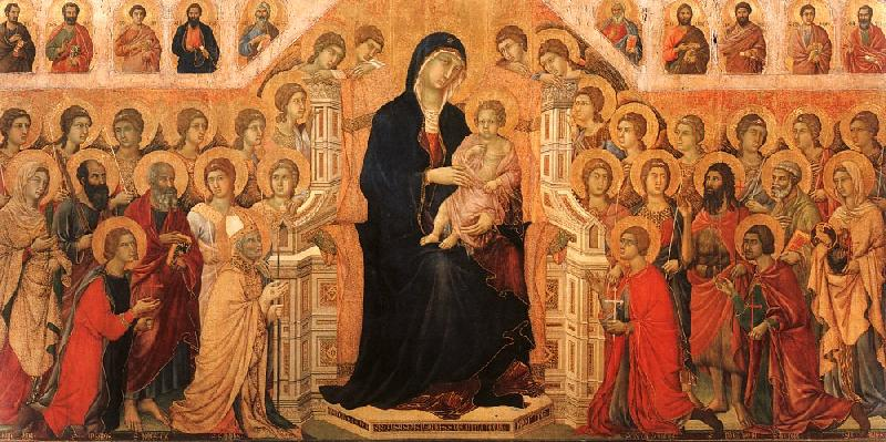 Duccio di Buoninsegna Madonna and Child Enthroned with Angels and Saints oil painting image