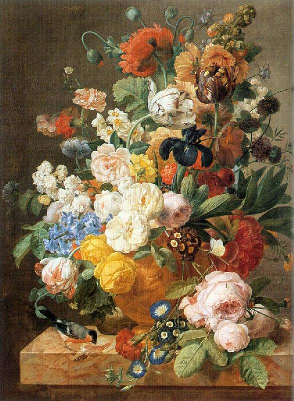 ELIAERTS, Jan Frans Bouquet of Flowers in a Sculpted Vase dfg oil painting image