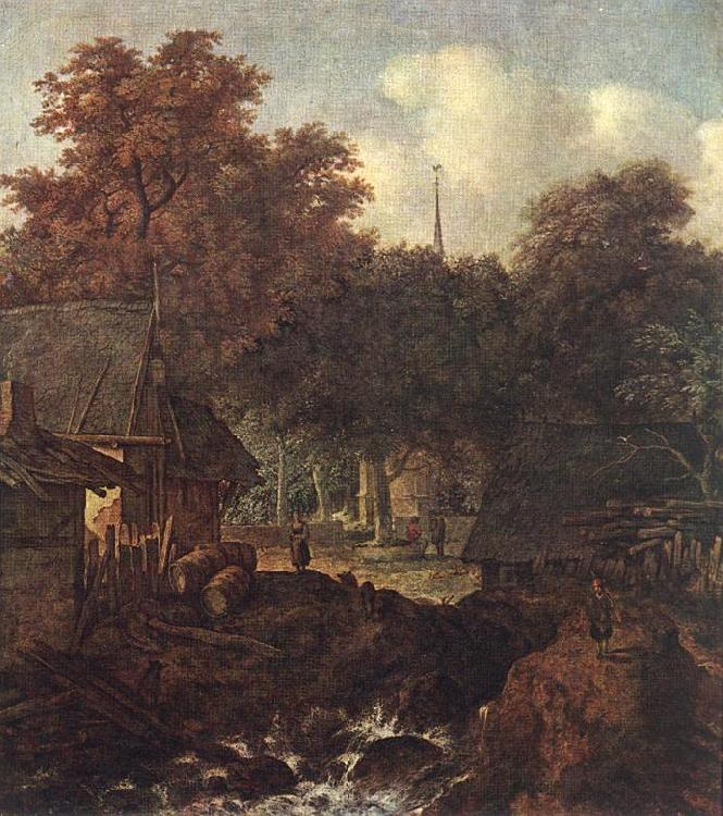 EVERDINGEN, Allaert van End of Village sd oil painting image
