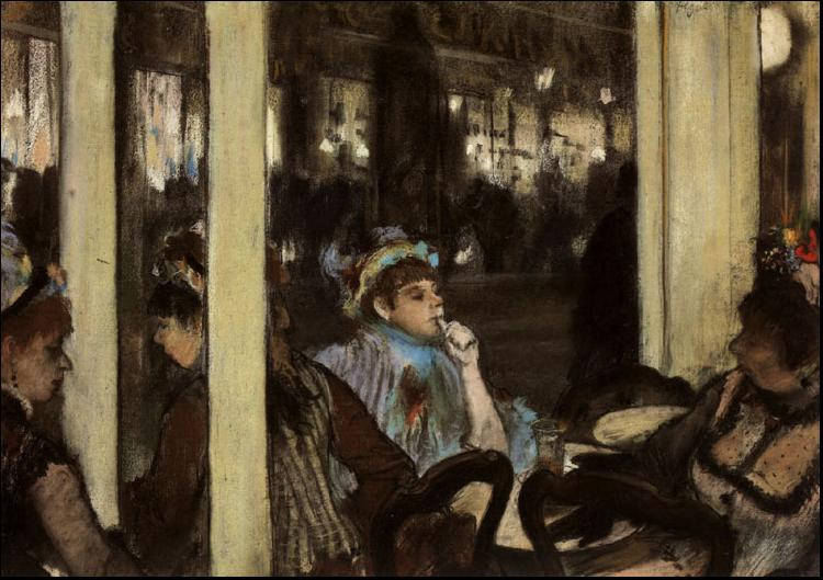 Edgar Degas Women in Front of a Cafe, Evening oil painting image