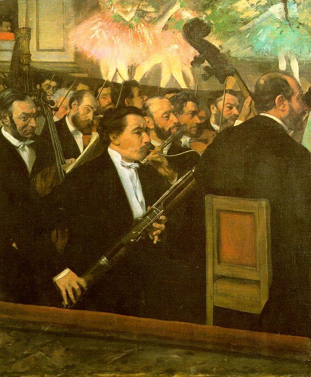 Edgar Degas The Orchestra of the Opera oil painting image
