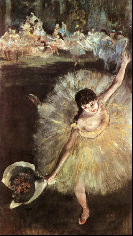 Edgar Degas Dancer with Bouquet oil painting image