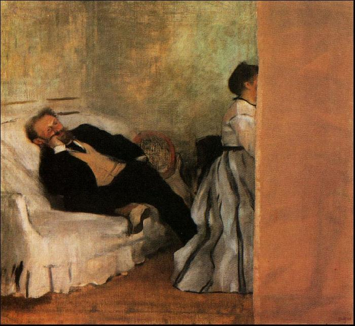 Edgar Degas Mr Mrs Edouard Manet oil painting image