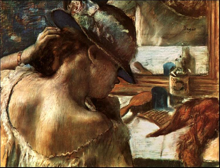 Edgar Degas Before the Mirror oil painting image
