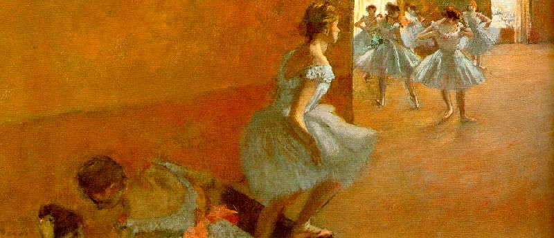 Edgar Degas Dancers Climbing the Stairs oil painting image