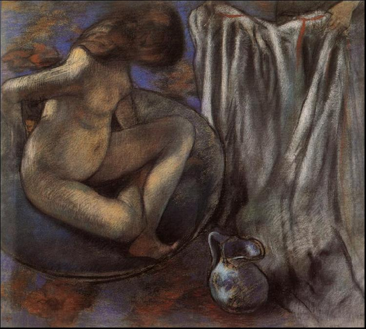 Edgar Degas Woman in the Tub oil painting image