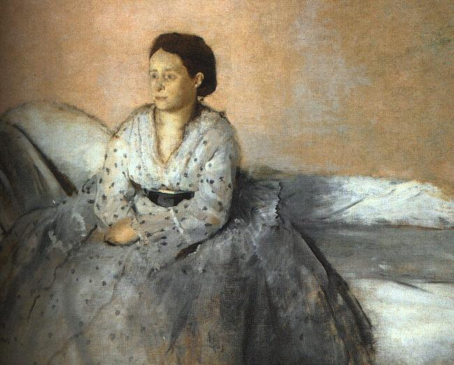 Edgar Degas Madame Rene de Gas oil painting image