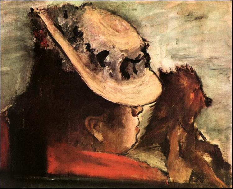 Edgar Degas Woman with a Dog_y oil painting image