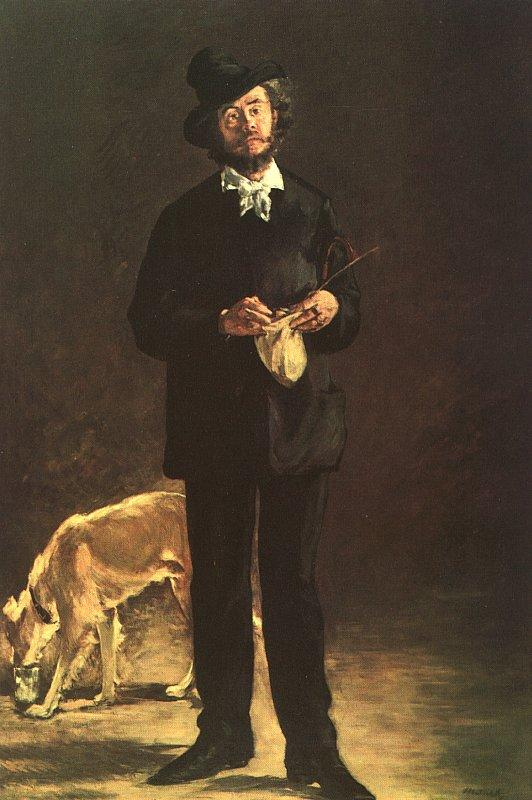 Edouard Manet Portrait of Gilbert Marcellin Desboutin oil painting image