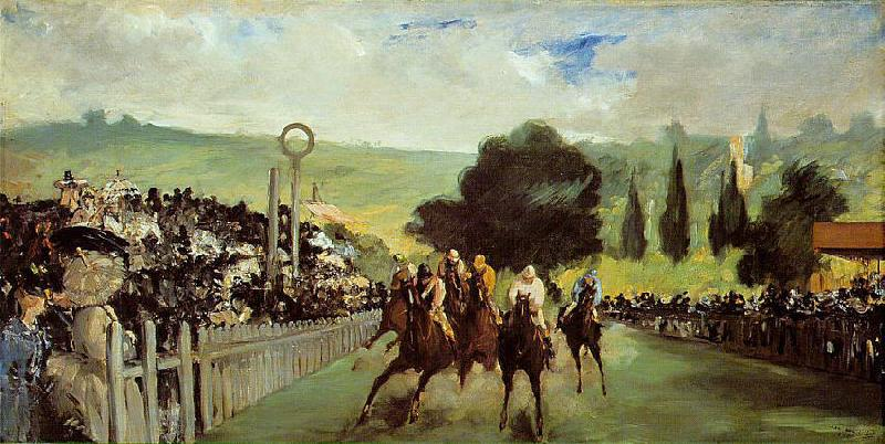 Edouard Manet Course De Chevaux A Longchamp oil painting image