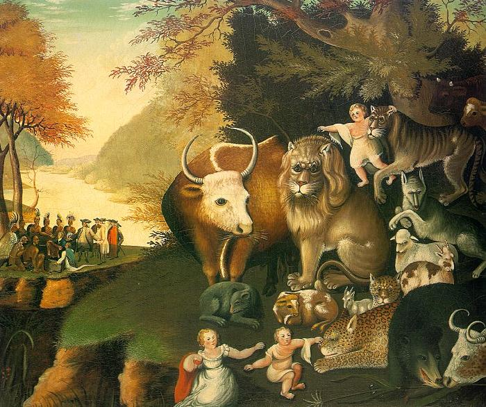 Edward Hicks The Peaceable Kingdom France oil painting art