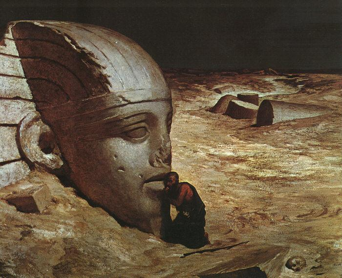 Ehilu Vedder Listening to the Sphinx France oil painting art