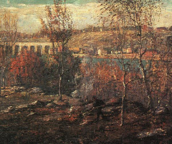 Ernest Lawson Harlem River oil painting image