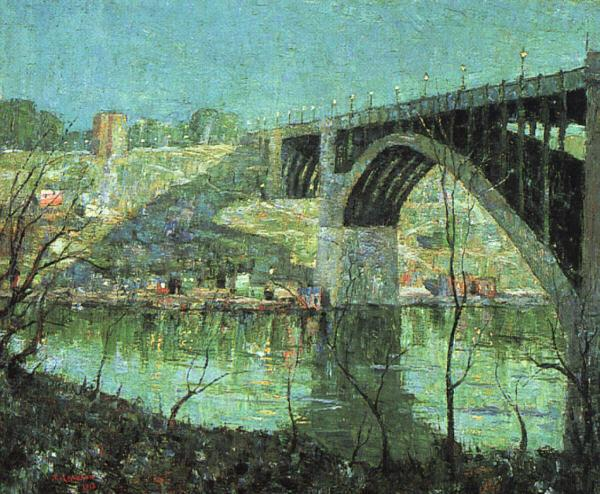 Ernest Lawson Spring Night at Harlem River oil painting image