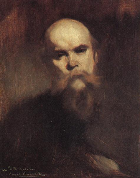 Eugene Carriere Portrait of Paul Verlaine oil painting image