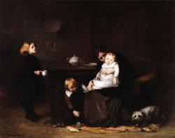 Eugene Carriere The Sick Child oil painting image