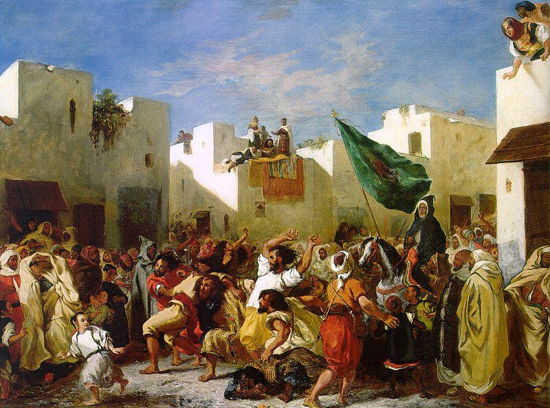 Eugene Delacroix The Fanatics of Tangier oil painting image
